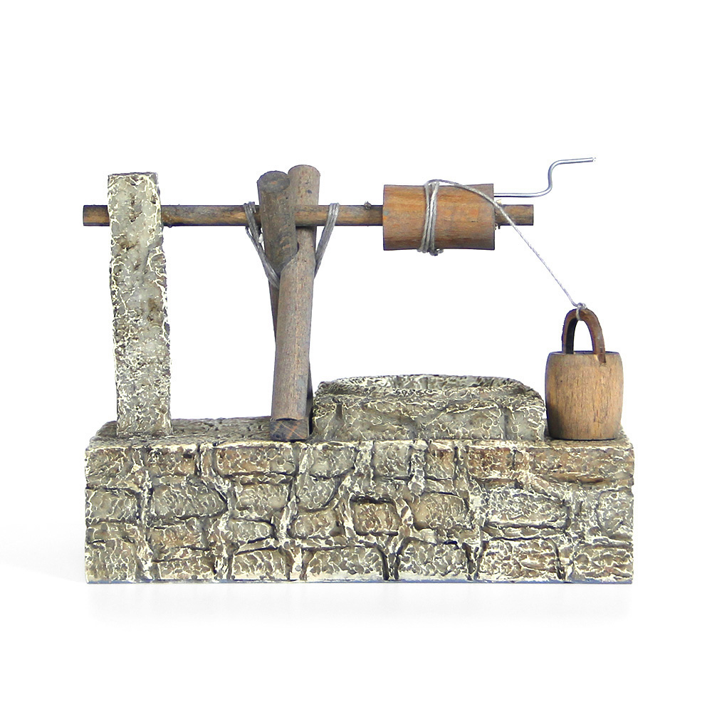 古时候辘轳井模型迷你农具装饰品 招财风水摆件 创意复古可爱正品