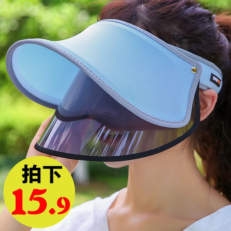 子女帽子太阳帽韩版百搭夏天范冰冰紫外线遮阳帽防晒遮脸防
