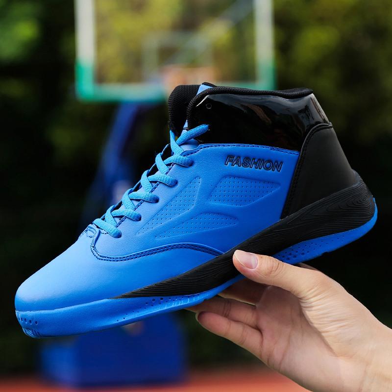 夏季篮球鞋10男童透气帆布11男孩高帮运动鞋12大童男鞋15岁小学生