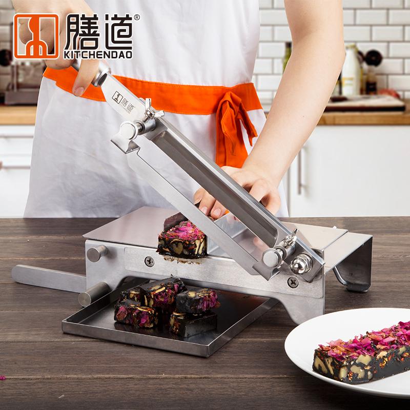 阿胶糕切刃牛轧糖切片铡刃不锈钢切牛羊肉卷片切中要材年糕切片机