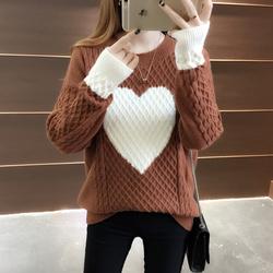 很仙的上衣女士网红毛衣秋装2019年新款洋气宽松针织打底衫女秋冬