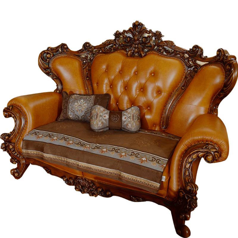 真皮沙发垫欧式沙发坐垫皮沙发垫奢华布艺