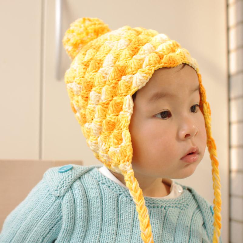 菠萝毛线帽子婴儿编织包
