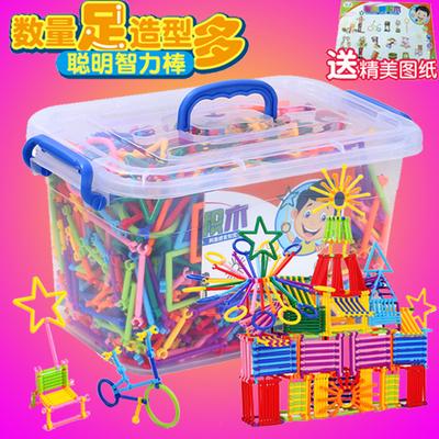 儿童益智立体拼图1-3-7岁小男孩开发智力聪明积木棒玩具4-5-6周岁