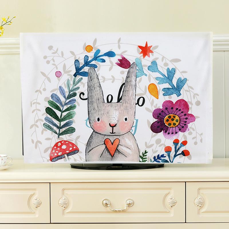卡通可爱电视机盖布盖巾防尘布电视机罩防尘罩壁挂42英寸液晶挂式