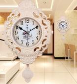【天天特价】北极星20英寸欧式复古摇摆挂钟客厅挂表静音石英钟表
