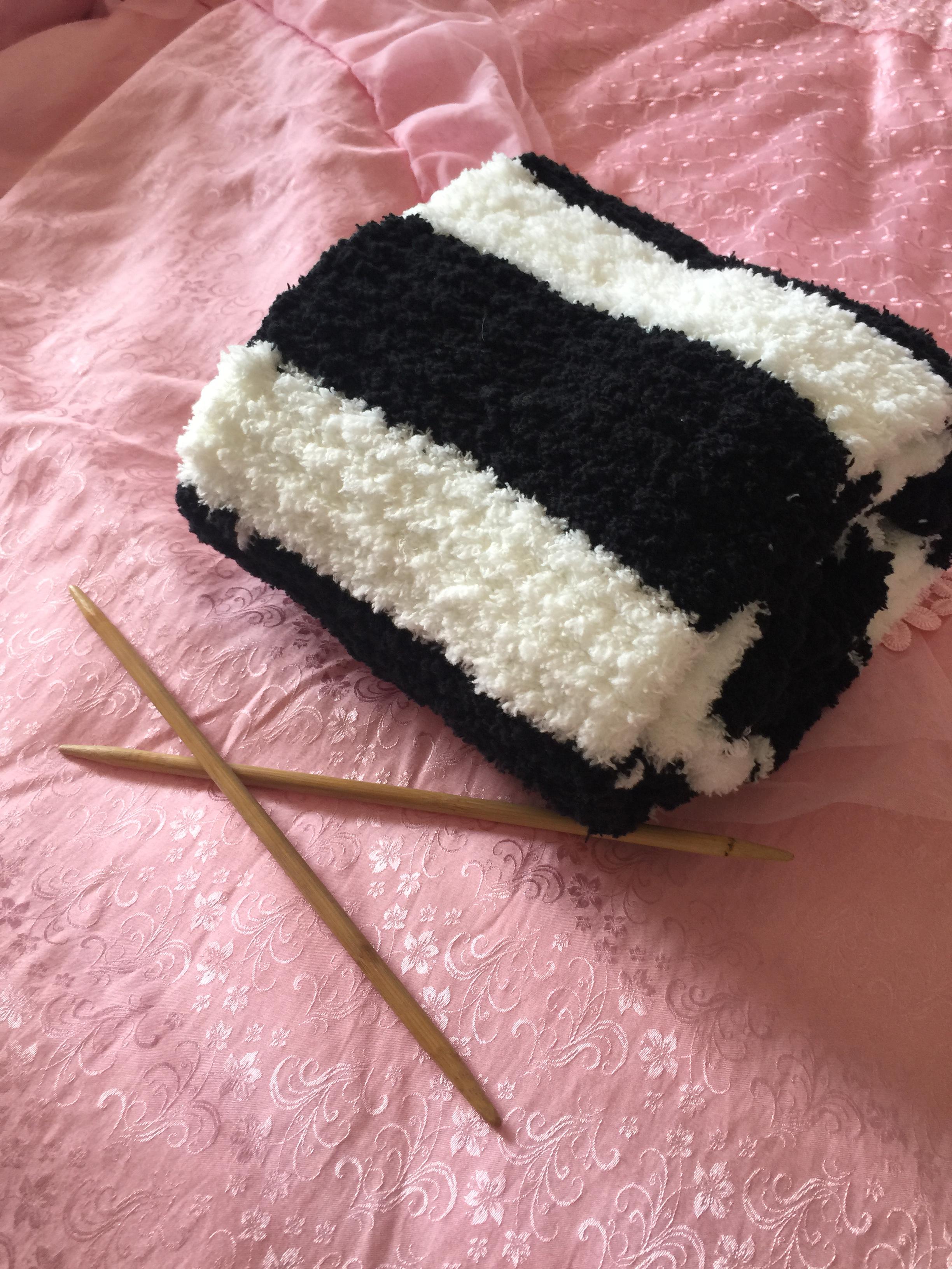 材料包棉线编织围墙花相思扣菠萝花围巾送视频教程