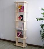 5格架 实木花架 书架木架子 置物架 收纳架储物架