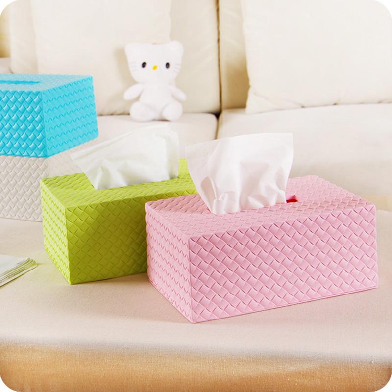 豆豆创意藤编造型家用抽纸盒简约办公桌面塑料纸巾盒餐巾纸收纳盒