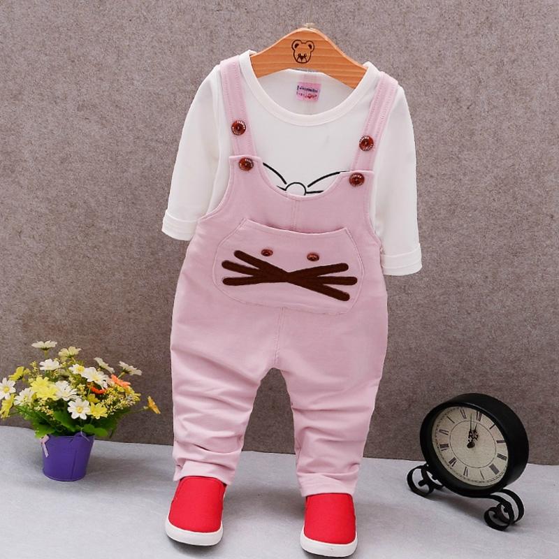 寶寶時尚套裝公主背帶褲韓國男童童裝嬰兒春裝