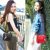 斜挎包女迷你小包包2017新款韩版百搭单肩包女包时尚手提包水桶包
