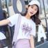 2017夏装新款短袖t恤女纯棉圆领宽松显瘦韩版学生体恤女装上衣服