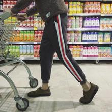 秋冬季休闲男士运动裤男加绒加厚哈伦束脚裤小脚收口韩版长卫裤子