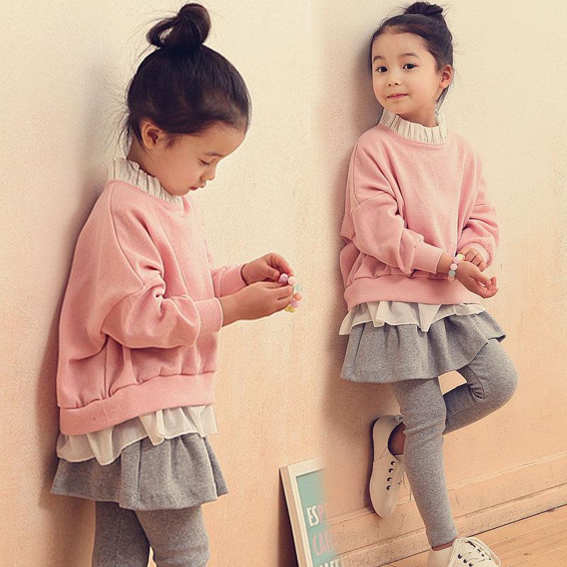 小童春秋儿童装韩版运动套装套裙女童童装春装