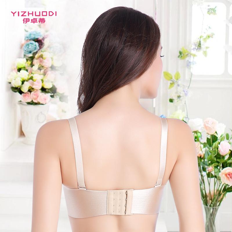女士一片式拉丝无痕内衣文胸无钢圈聚拢小胸调整型收副乳少女胸罩