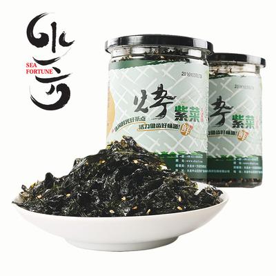 水一方原味烤紫菜160g大连海苔特产即食儿童炒饭罐装零食40g*4罐