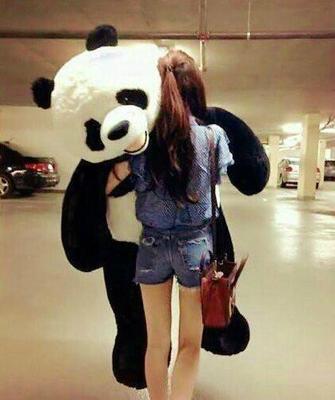 特大号国宝熊猫可爱黑白毛绒玩具公仔女生情人节生日礼物特价包邮