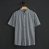 【天天特价】夏季短袖衬衫男士休闲格子衬衣薄款上衣 NM-720303