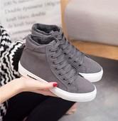 冬季女鞋短筒雪地靴女短靴棉鞋女韩版百搭加绒马丁靴高帮保暖冬鞋