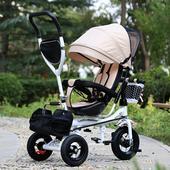 儿童三轮车旋转座椅带手推可折叠自行车宝宝脚踏车小孩1-3-5单车