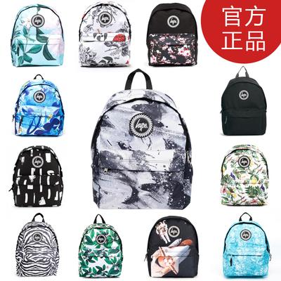 现货正品 Hype 欧美学院印花双肩包中学生书包学院男女旅行背包