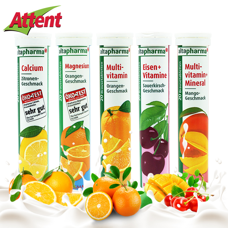 Germany imported VC effervescent fragrance rich in calcium magnesium zinc supplement of vitamin 80g*3 drink
