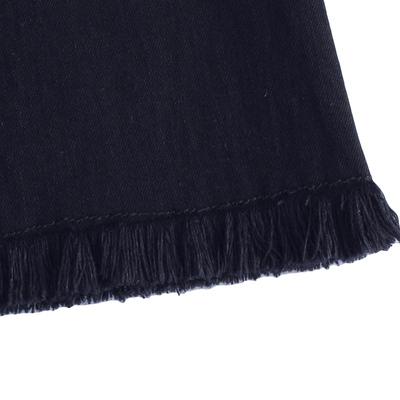 预售韩都衣舍2017韩版女装春装新喇叭流苏破洞显瘦牛仔裤TK6819婏