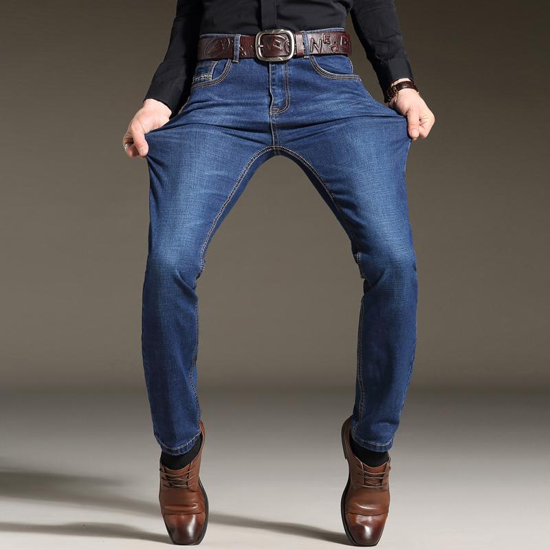 裤子薄款潮男直筒青年休闲春天弹力春季商务修身牛仔裤