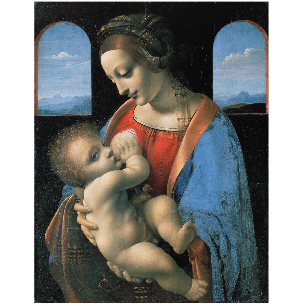 达芬奇 哺乳圣母 名画油画 装饰画 客厅书房酒店会所咖啡厅54-69