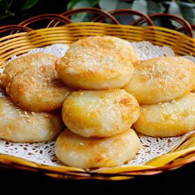 【天天特价】宁波特色糯米块年糕团 拉丝糍粑粑400g包邮送黄豆粉