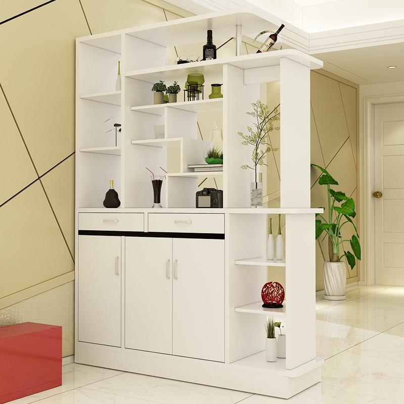 亿家达特价创意简易隔断双面酒柜鞋柜超薄欧式烤漆柜