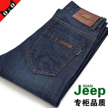 NIANJEEP 吉普夏季薄款牛仔裤男