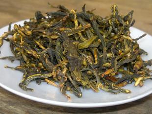 黄大茶包邮500g农家柴火手工炒茶茶芽广东大叶青黄茶特级茶芽