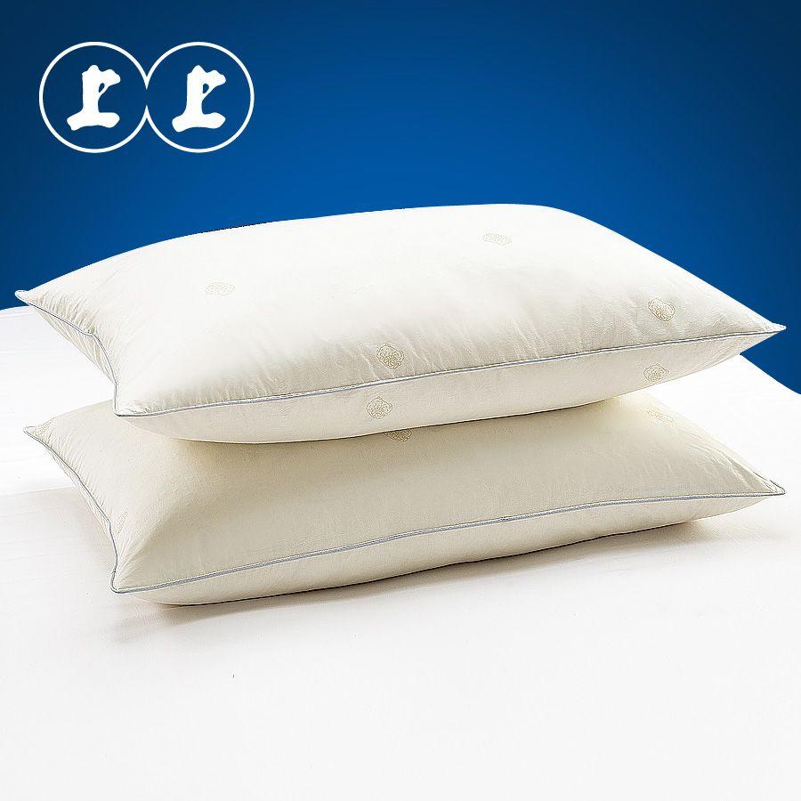 包邮店单上上家纺羽绒枕头枕芯羽毛枕 五星酒人枕成人枕 白羽枕芯