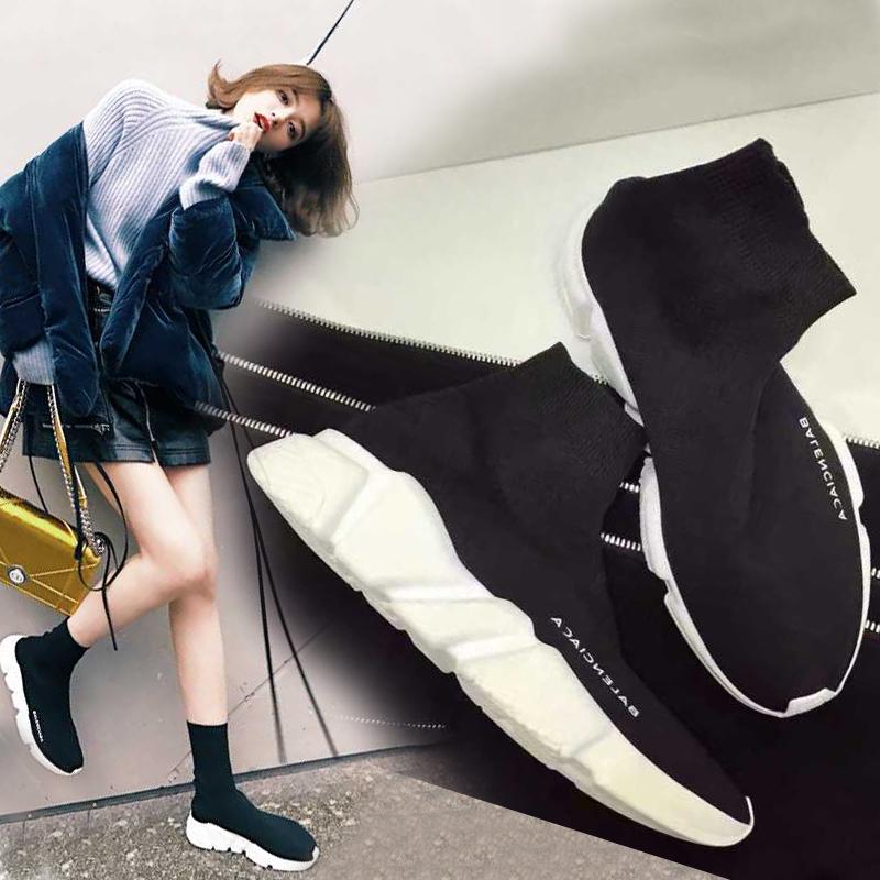 襪子彈力厚底女潮鞋情侶休閑平底運動鞋