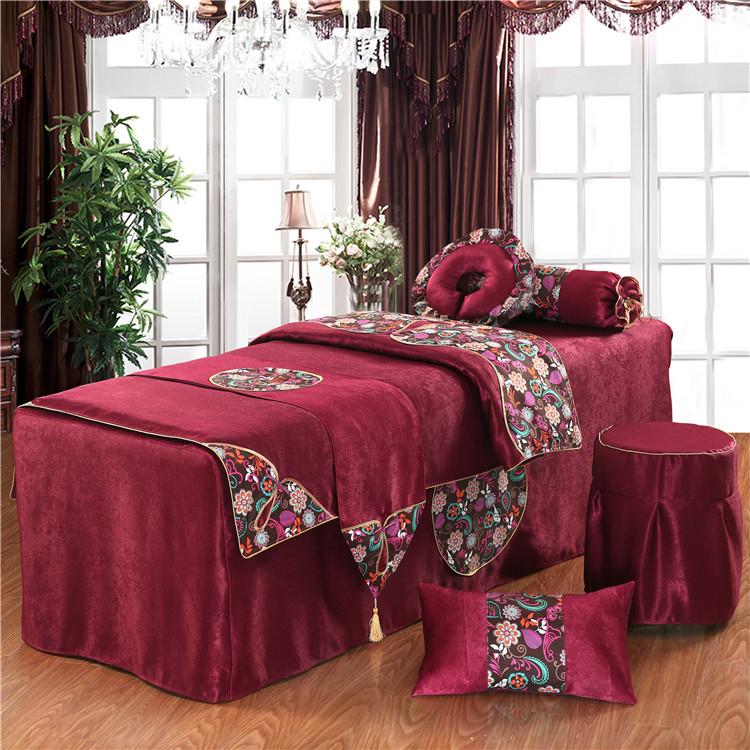 美容床罩四件套批发特价全棉韩版欧式按摩床套通用院