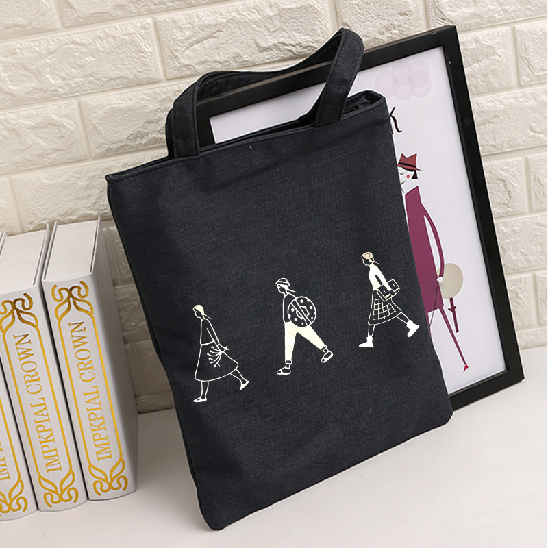 韩版简约文艺帆布包女单肩手提包学生装书包购物袋包学生书袋包