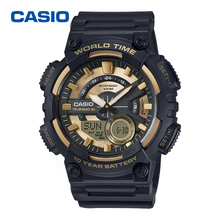 旗舰店官网卡西欧手表双显防水CASIO运动男表电子表AEQ-110BW-9A