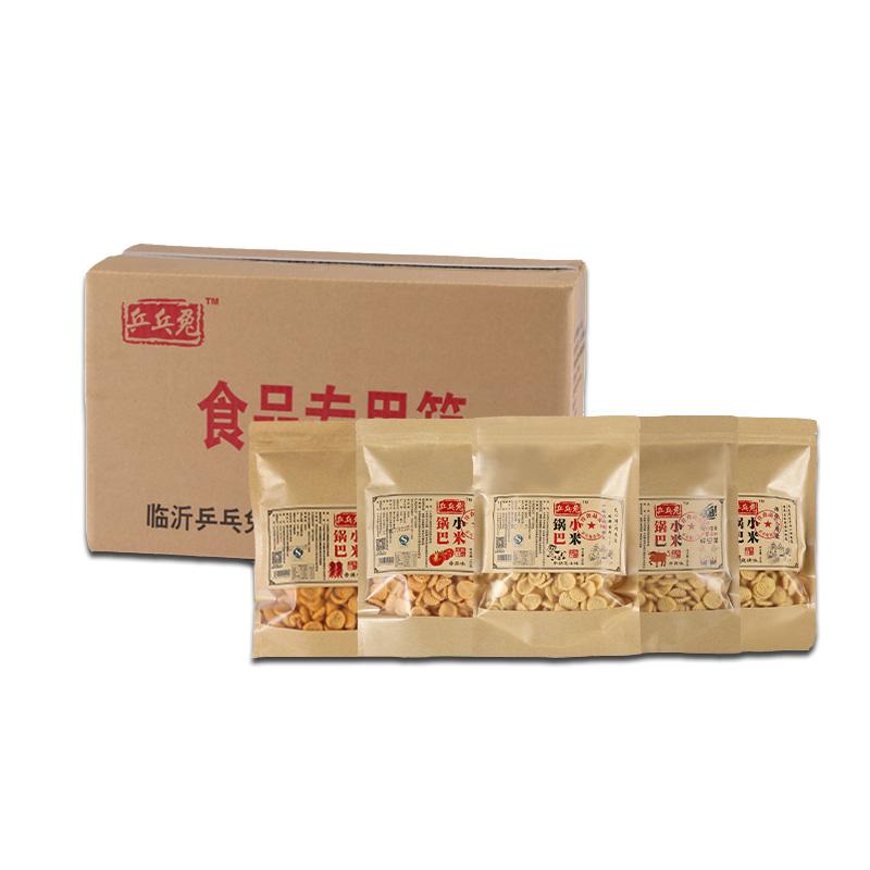 包 20 山东乒乓兔锅巴香辣烧烤味原味休闲膨化食品零食整箱装批发