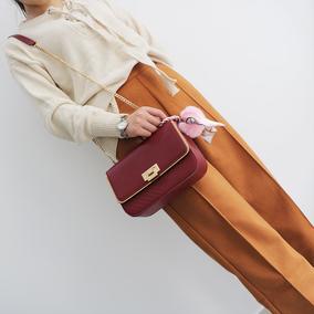 冬季2016新款手提包锁扣小方包简约女包包单肩链条包斜挎包小包潮