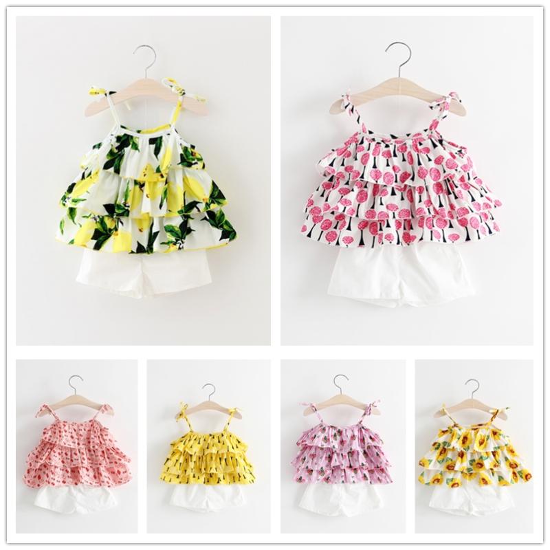 夏季宝宝夏天婴儿小童吊带套装背心衣服童装