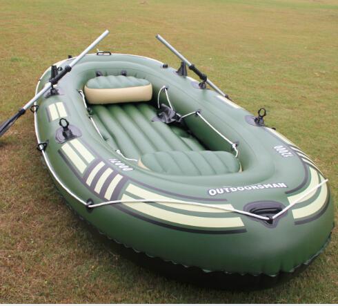 汽艇充气船皮伐加厚皮筏双人冲锋舟漂流皮划艇橡皮艇艇船钓鱼气垫