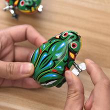 经典怀旧发条青蛙创意益智地摊青蛙玩具批发铁皮儿童亲子宝宝礼物