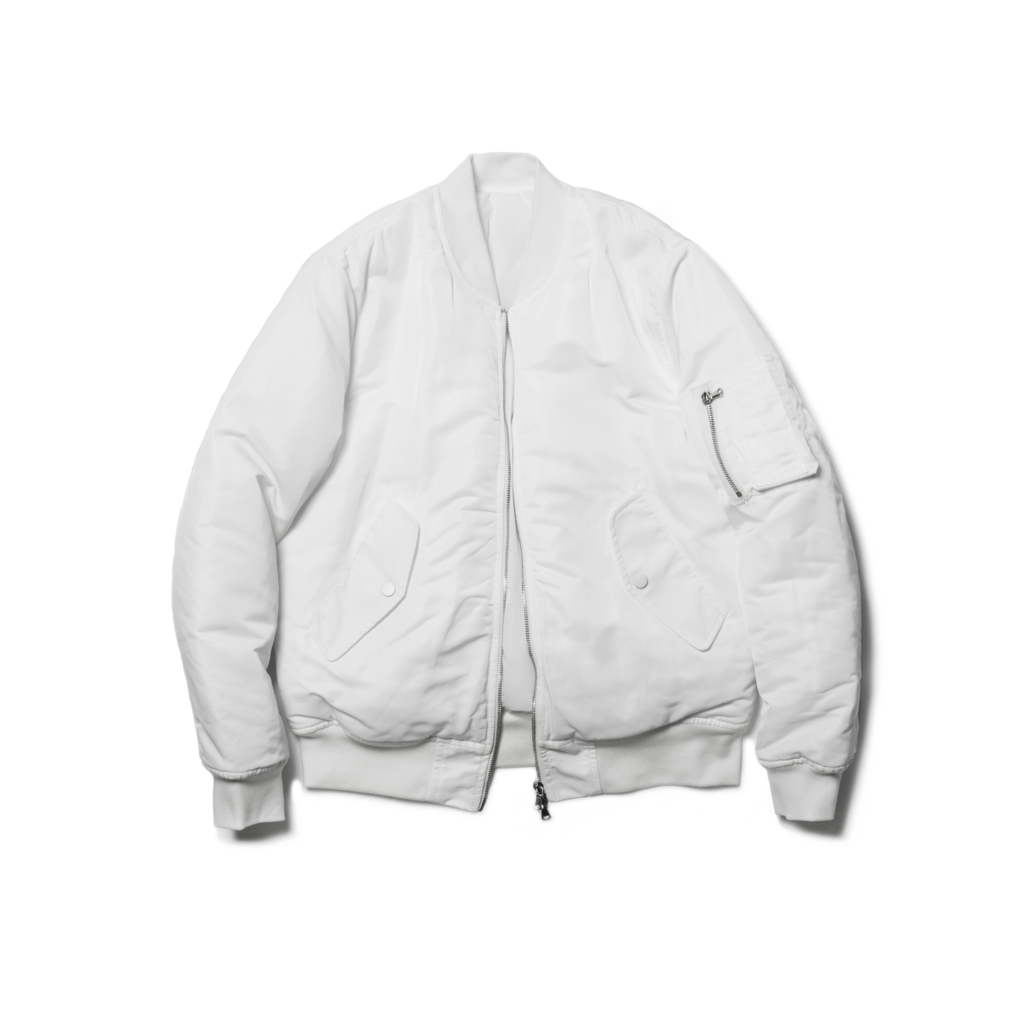 "Unawares FW16 ""UNAWARES HOMME"" MA-1 /White"