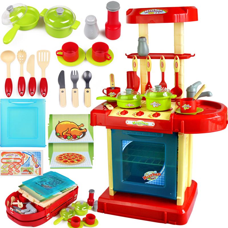 儿童过家家仿真声效厨具幼儿园区角角色玩具厨房餐具小厨师工作台