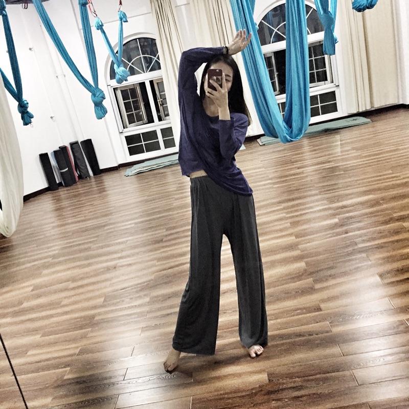 现代舞爵士民族古典舞蹈大直筒练功裤舞蹈演出服瑜伽裤健身运动裤