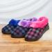 宝人冬季棉拖鞋女厚底保暖居家室内防滑软底家用包跟短绒情侣拖鞋