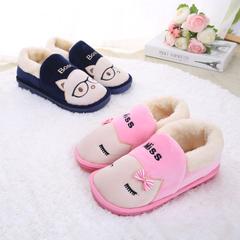 棉拖鞋全包跟冬季情侣男女防滑加厚底居家室内可爱保暖月子毛毛鞋