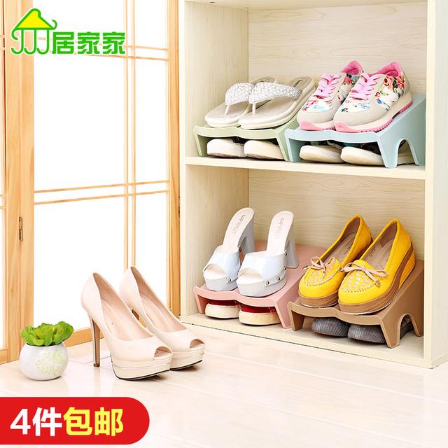 双层鞋 子收纳架一体式鞋 创意节省空间简易小号收纳鞋 居家家