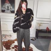 2016新款明星同款宽松女装短款韩版海宁显瘦大牌狐狸毛皮草外套